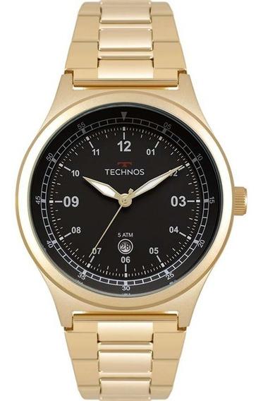 Relógio Masculino Technos Dourado 2115mqy/4p