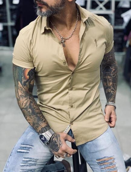 Camisa Social Masculina Slim Fit Masculina Frete Gratis
