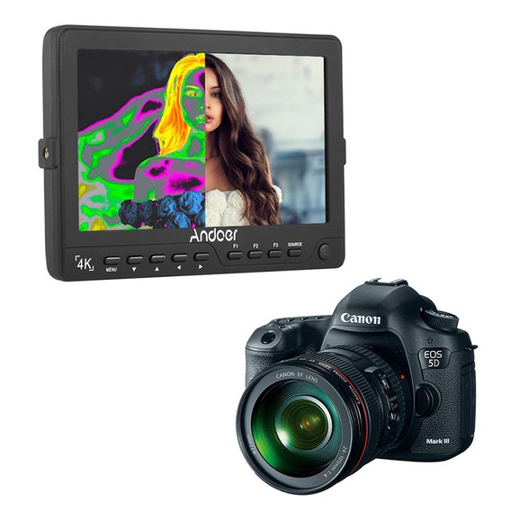 Monitor De Referência 4k Lcd Para Canon T4i T5i 60d 7d 5d
