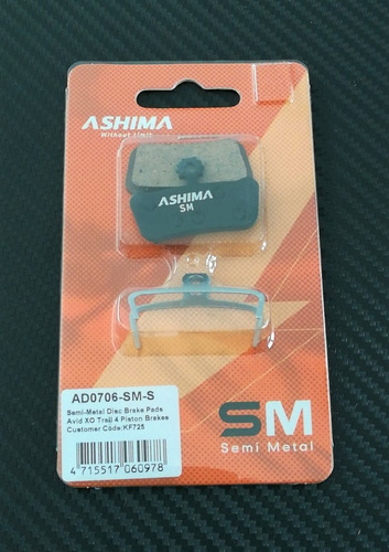 Imagen 1 de 1 de Balatas Ashima Semi Metalicas Ad0706