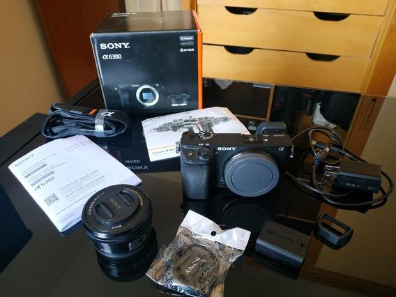 Sony A6300 - Excelente Estado - Caixa E Acessórios