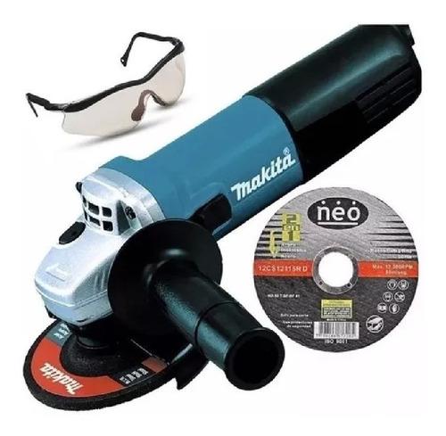Amoladora 4.1/2  Makita 9557nb +regalos (lente Y Disco) -to-
