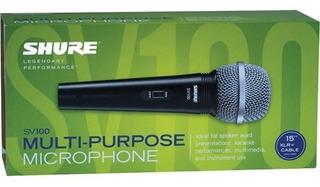 Shure Sv100 Micrófono Vocal Dinámico Incluye Cable Xlr