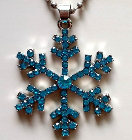 Colar Frozen Azul