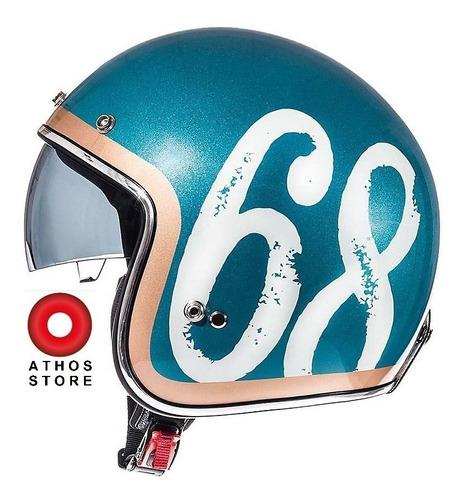 Casco Mt Helmets Le Mans Hipster Green Brilloso