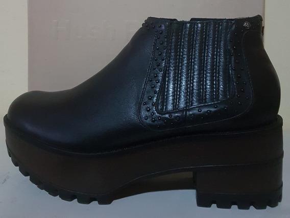 Zapatos Hush Puppies Tina Negro Talle 39 Cuero