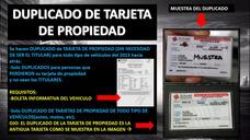 Servicio De Duplicado De Tarjeta De Propiedad Vehicular