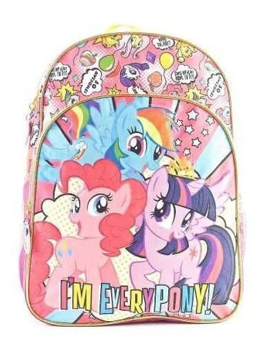 Mochila Pequeño Pony Espalda Ideal Escuela 16 My Little Pony
