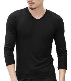 Alg 2018 Camiseta De Hombres Larga Verano Color Manga Sólido SzUVMp