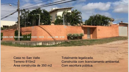 Casa Alto Padrão Para Venda Em Natal, Candelária/san Vale - Casa Em Via Pública, 3 Dormitórios, 3 Suítes, 5 Banheiros, 6 Vagas - Cas1296-m_2-1006066