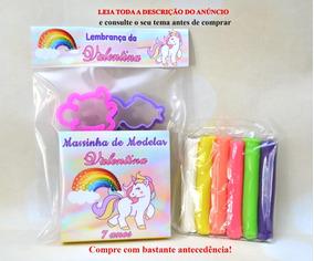 30 Kit Massinha De Modelar Unicornio Personalizados