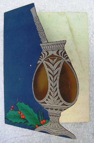 Antigua Tarjeta Postal Motivo Gaucho Y Mate - En Inglés