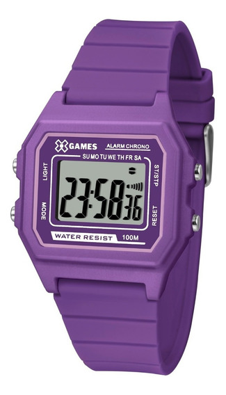 Relógio X-games Feminino Digital Xlppd030 Bxux Roxo