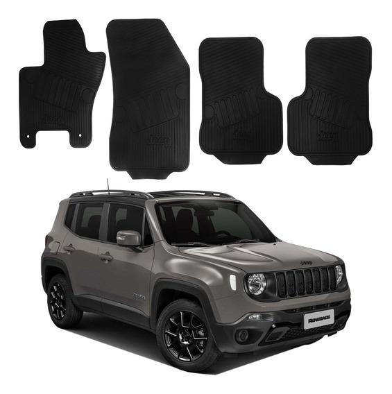Jogo Tapete Borracha Mopar Jeep Renegade Night Eagle 2020