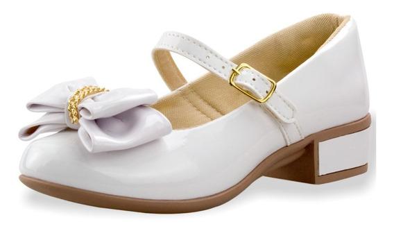 Sapatilha Infantil Feminina Salto Menina Saltinho Sapato Boneca Estilo Social Festa Batizado Moda Sapato Calçados