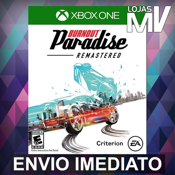 Burnout Paradise Remastered - Xbox One Código 25 Dígitos