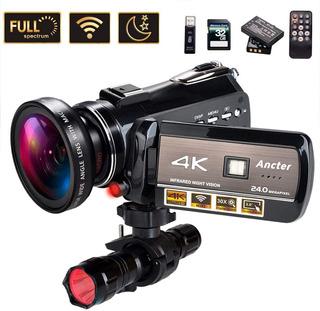 Videocámara 4k Full Spectrum Ultra Hd 60fps 24mp 30x 32gb