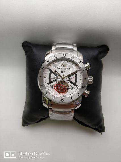 Relógio Masculino Bv X-man Prata Automatico Silver Em Aço