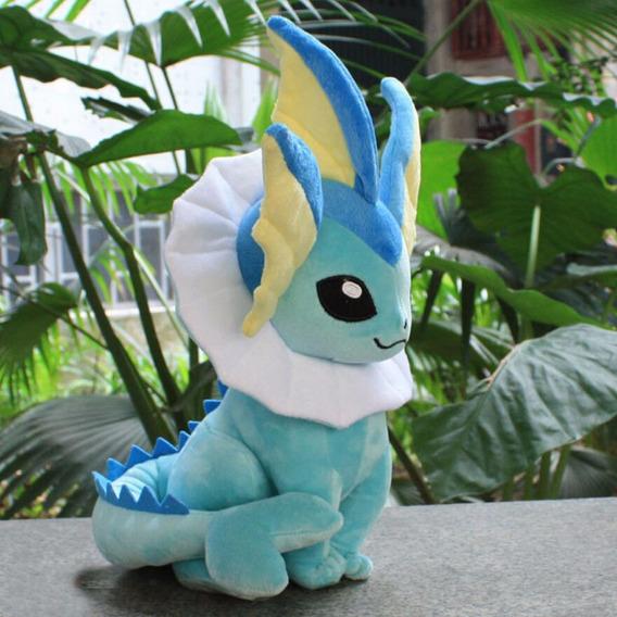 Pelúcia Vaporeon Pokémon Nintendo - Tamanho: 36cm