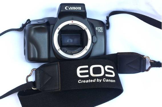Máquina Fotográfica Canon Eos 750 Analógica, Leia Descrição!
