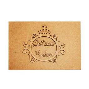Kit 15 Caixa Convite Aniversário Debutante Mdf 22x16x5