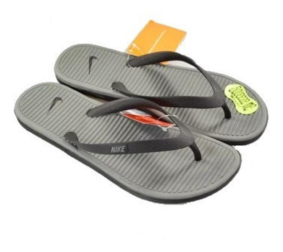 Chinelo Nike Solarsoft Thong Cinza Original - Footlet