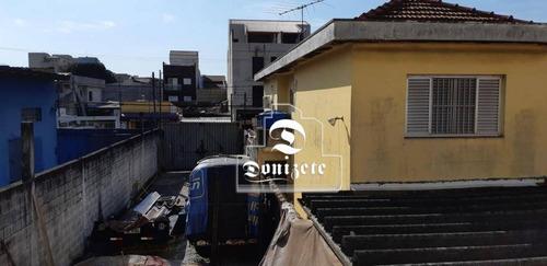 Terreno À Venda, 150 M² Por R$ 300.000,01 - Parque Oratório - Santo André/sp - Te0080