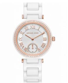 Relógio Michael Kors Feminino Skylar Cerâmica Mk6240/8bn