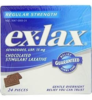 Cajas De 24 Unidades Chocolated Ex-lax Regular Strength (paq