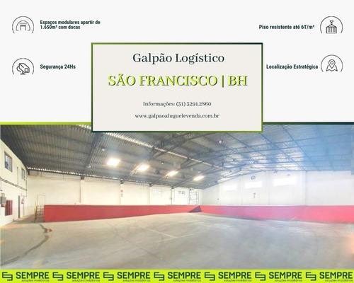 Imagem 1 de 23 de Galpão Com Plataforma Para Locação - São Francisco - Bh / Mg - Ga1497