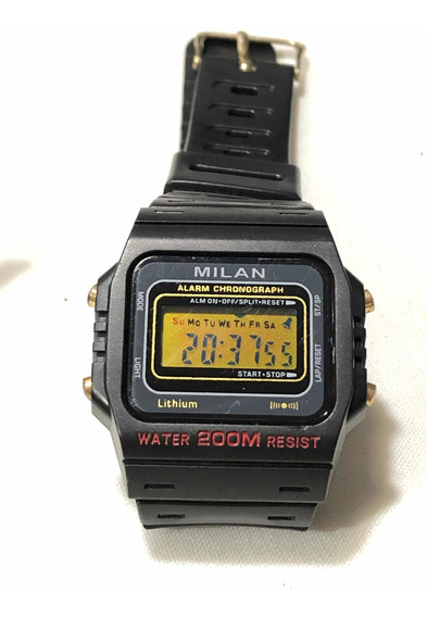 Relógio Digital Milan Estilo Aqua