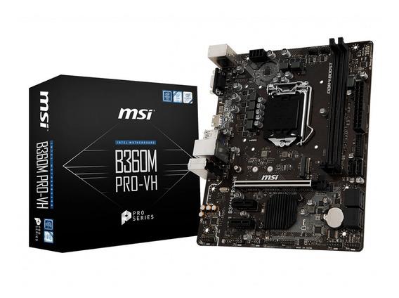 Placa Mãe Msi B360m Pro-vh Intel 1151 Ddr4