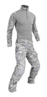Uniforme Militar Tactico Camuflaje Paintball Caceria Camping