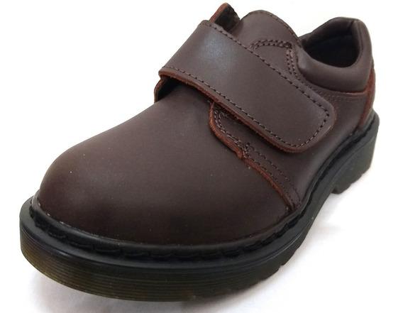 Zapato Con Abrojo De Cuero Vacuno Cheeky Michigan