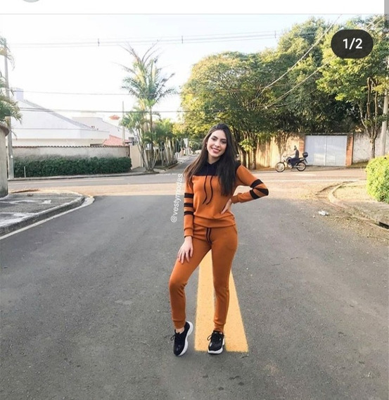 Kit 2 Conjunto Moletom Feminino Blusa E Calça Inverno Frio