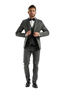 Trajes Slim Fit Satinados Con Zapato Cinto Y Camisa Import