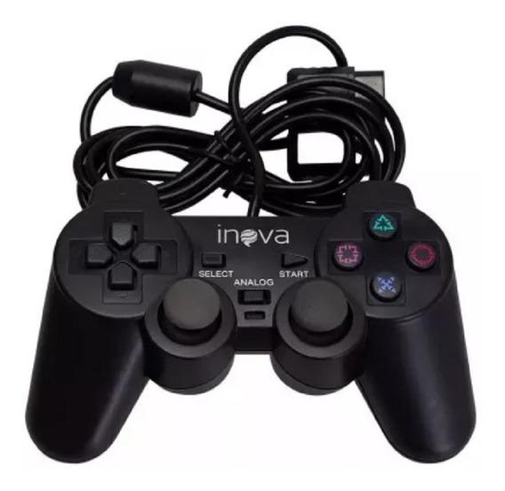 Controle Joystick Playstation Ps2 Inova Direcional Vibração