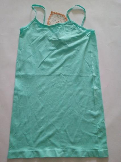 Blusa (camisa) Tiritas Para Dama En Nylon/spandex Color Aqua