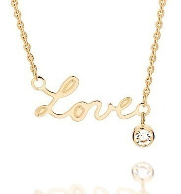 Gargantilha Rommanel Pendant Love Com Cristal 531531