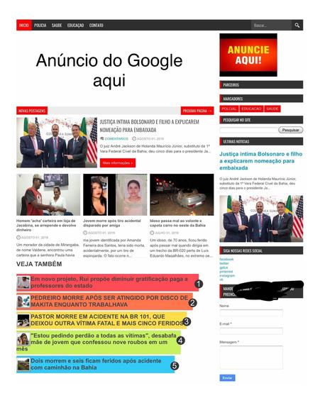 Templet De Notícias Blogspot