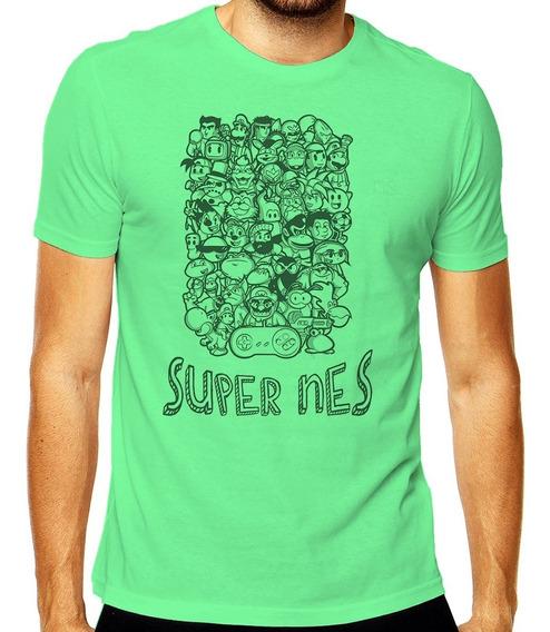 Camiseta Geek Personagens Super Nes Mod 001