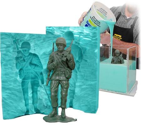 Imagen 1 de 4 de Caucho Silicona Liquido Moldes Mold 15 X450g Escultura