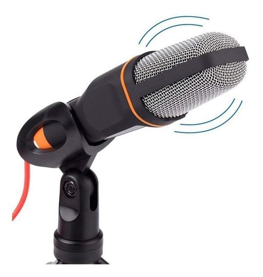 Microfone Condensador P2 Mesa Celular Gravação Video Youtube