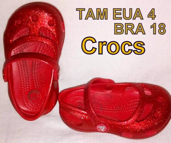 Lote 4 Calçados Marcas Tam 18 Crocs Paola Da Vinci Puc Baby
