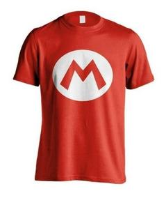 Camisa Mario Bros E Luigi - Kit Com 2 Peças