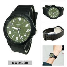 Relógio Analógico Casio Fundo Verde Militar Unisex