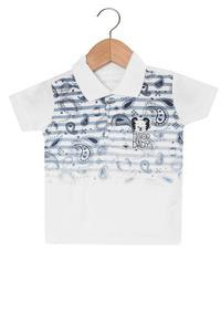 Camisa Polo Menino Tigor T. Tigre Bege Bege 3p