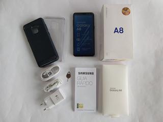 Samsung Galaxy A8 Preto, Tela 5.6, 64 Gb - Nf E Garantia
