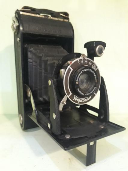 Camera Fotográfica Antiga De Fole Voigtlander Braunschweig