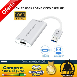 Capturadora De Video Hdmi A Usb 3.0 Full Hd 1080p
